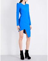 Thierry Mugler Asymmetric fitted jersey mini dress