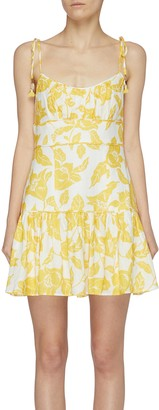 Zimmermann Bells fit and flare floral mini dress