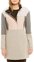 Ivanka Trump Wool Colorblock Patchwork Walker Coat
