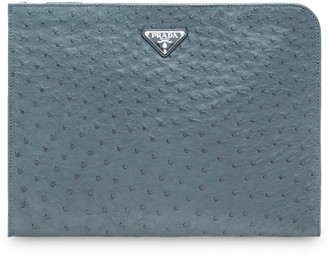 Prada Ostrich Leather Document Holder
