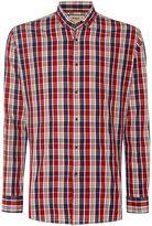 T.M.Lewin Men's Check Slim Fit Long Sleeve Button Down Shirt