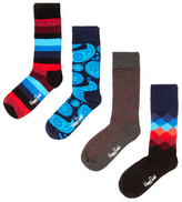 Happy Socks Knit Socks Gift Box Set (4 PK)