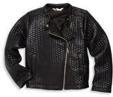 Petit Lem Girl's Textured Long Sleeve Jacket