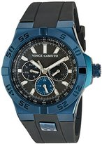 Vince Camuto Men's VC/1010DGNV The Master Navy Blue Accented Multi-Function Grey Silicone Strap Watch