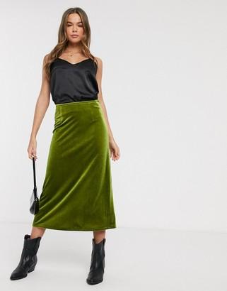 Emory Park midi skirt in velvet