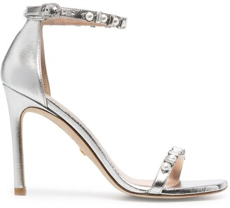Stuart Weitzman Metallic-Tone Heeled Sandals
