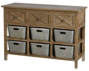 Stylecraft Three Drawer Wooden Side Table with Shelves