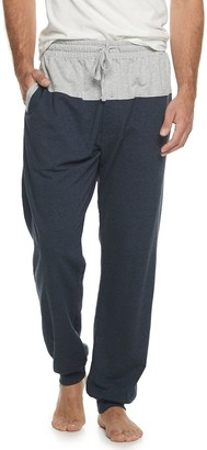 Hanes Men's 1901 French Terry Sleep Jogger Pants with Front and Back Yoke