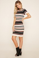 Forever 21 FOREVER 21+ Contemporary Striped Ribbed Knit Dress