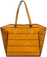 Kukubird Gemma Laser Cut Rows Design Tote Bag With Kukubird Dustbag