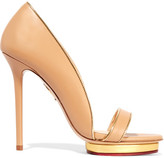 Charlotte Olympia Christine Leather Sandals - Beige