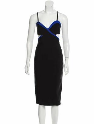 Thierry Mugler Cut-Out Sleeveless Dress w/ Tags Black
