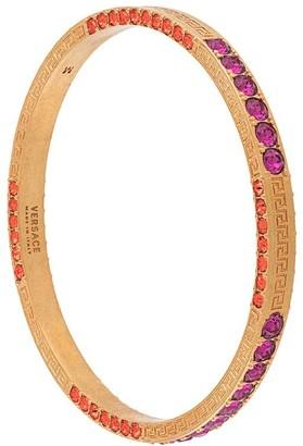 Versace Crystal-Embellished Engraved Bracelet