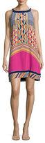 Trina Turk Ranching Geo-Print Halter Dress