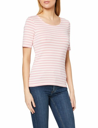 Gant Women's Striped 1x1 Rib Ss T-Shirt