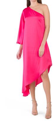 One Shoulder Asymmetrical Hem Dress