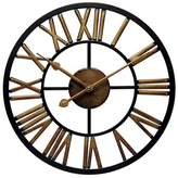 Infinity Instruments Micro Fusion All Weather Wall Clock Black/Brass
