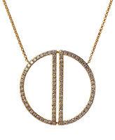 Effy Diamond & 14K Yellow Gold Circle Pendant Necklace