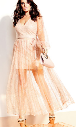 City Chic Eleganza Maxi Dress - rosegold