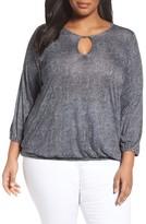 MICHAEL Michael Kors Plus Size Women's Stingray Print Peasant Top