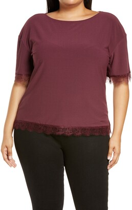 Halogen Lace Trim Top