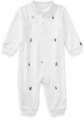Ralph Lauren Baby Boy's Embroidered Cotton Coverall