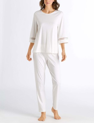 Hanro Women's Ilona 3/4 Sleeve Pajama Set