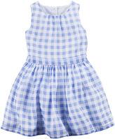 Carter's Gingham Crepe Dress - Toddler Girls 2t-5t