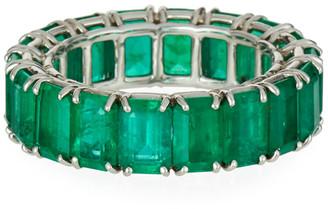 Bayco 18k White Gold Emerald Eternity Ring