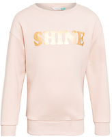 John Lewis Children's Shine Sweatshirt, Cameo Rose