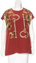 Dolce & Gabbana Key Print Short Sleeve Top