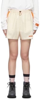 Heron Preston Beige Ripstop Shorts
