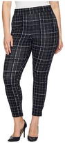 Hue Plus Size Summer Plaid Loafer Skimmer Women's Casual Pants