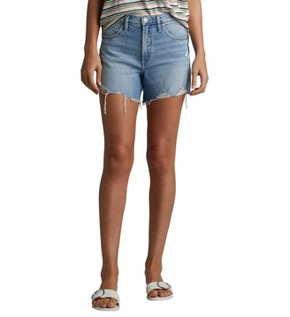 Silver Jeans Co. Women's Frisco Vintage High Rise Shorts True Wash 32W x 4L