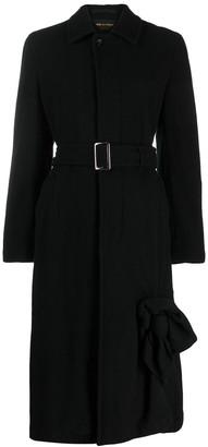 Comme Des Garçons Pre Owned Long Belted Coat
