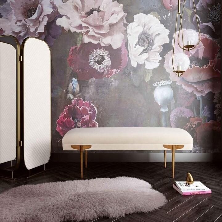 Thumbnail for your product : TOV Furniture Brno White Waived Velvet Bench