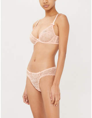 Agent Provocateur Hinda plunge underwired lace bra