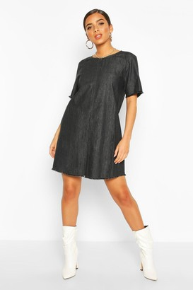 boohoo Oversized Denim Dress