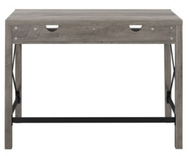 Walker Edison Farmhouse Metal and Wood Desk