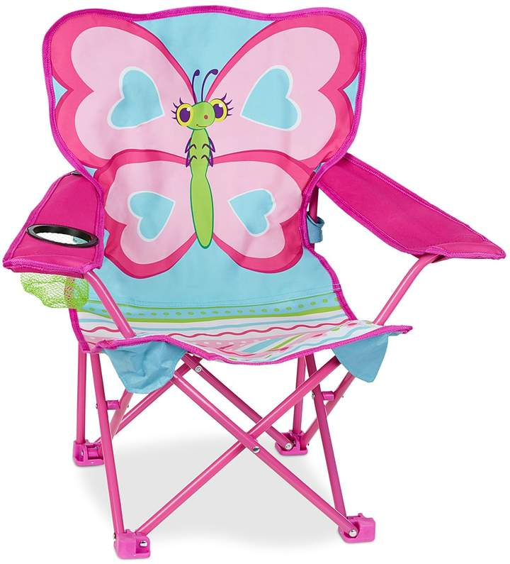 Melissa & Doug Butterfly Camp Folding Chair - Ages 3+