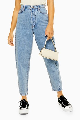 Topshop Mid Blue Ovoid Tapered Jeans