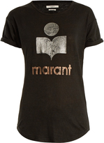 Etoile Isabel Marant Koldi logo-print linen T-shirt