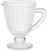 Southern Living Darius Soda Lime Glass Footed Pitcher