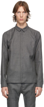 Haider Ackermann Grey and White Ramot Shark Classic Shirt