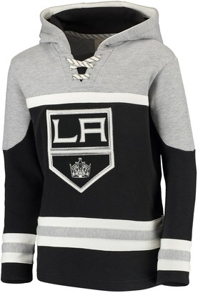 Outerstuff Youth Black Los Angeles Kings Asset Pullover Hoodie