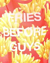 Asos Sweatshirt with Fries Before Guys Print