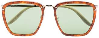 Gucci Havana square-frame sunglasses