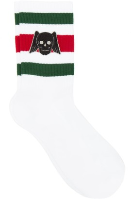 Gucci Skull Web Stripe Socks