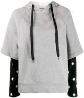 No.21 Layered Effect Hooded Sweatshirt