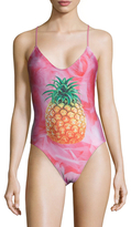Wildfox Couture Pineapple Print One Piece Swimsuit